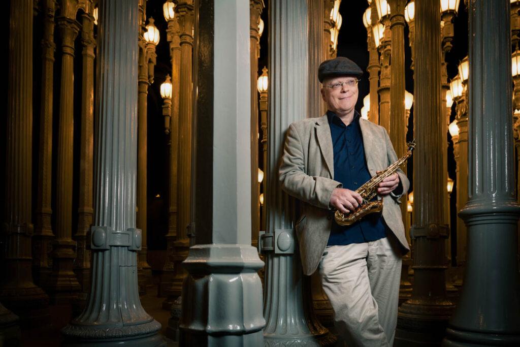 jon altman celebrity portrait lacma los angeles saxophone