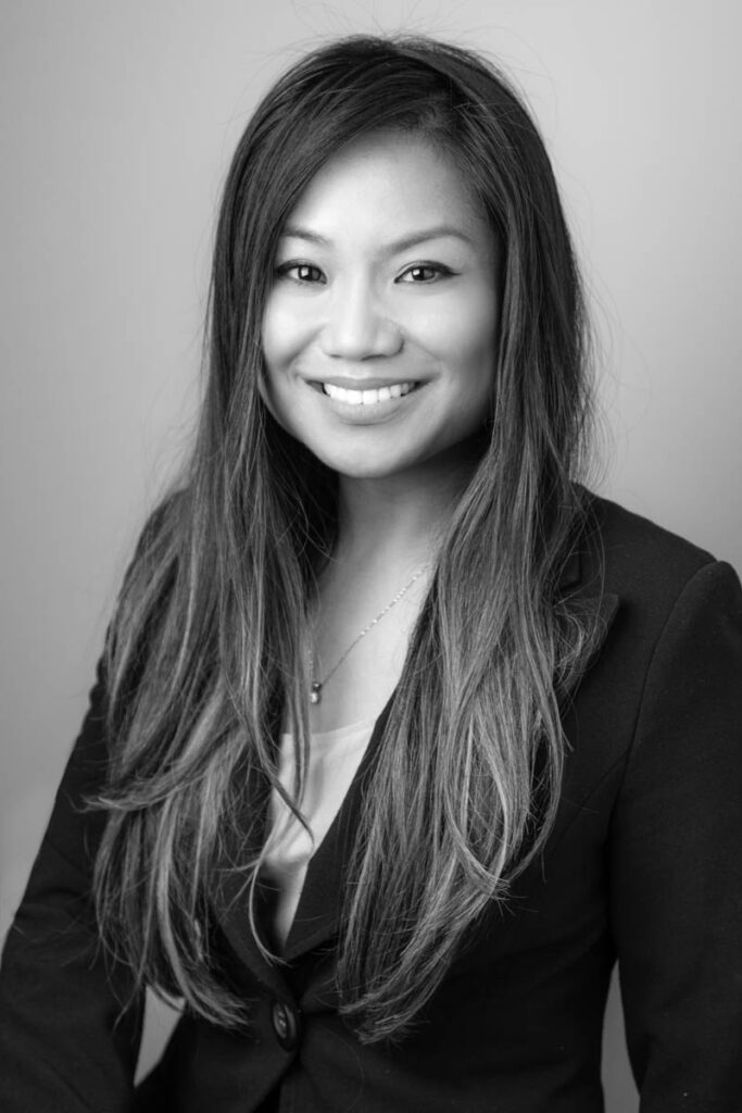 financial industry headshot black and white