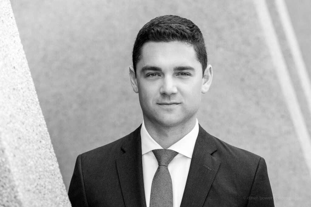 los angeles lawyer headshot black and white