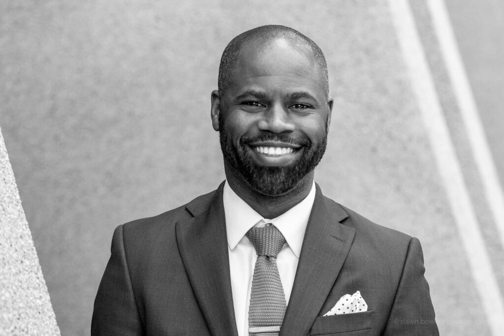 los angeles top lawyer headshot black and white