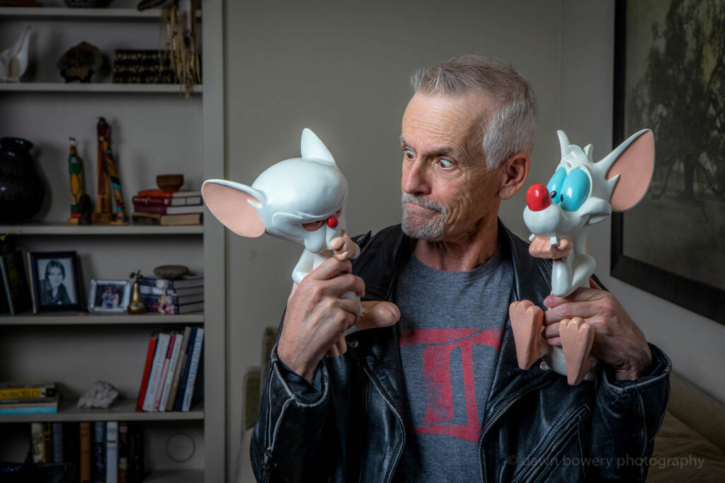 rob paulsen, pinky and the brain, los angeles editorial portrait