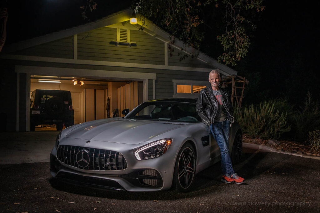 rob paulsen, pinky the brain, mercedes amg editorial, los angeles editorial portrait