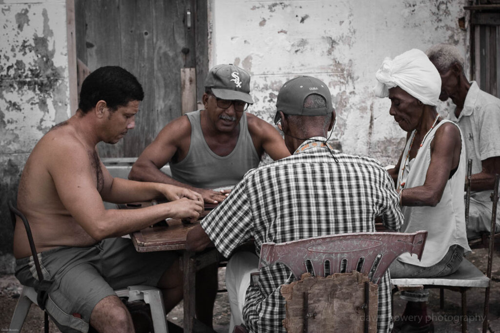 cuba, game of dominoes, fine art, travel photography