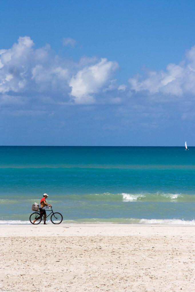 cuba beach bicycle, fine art, travel photography