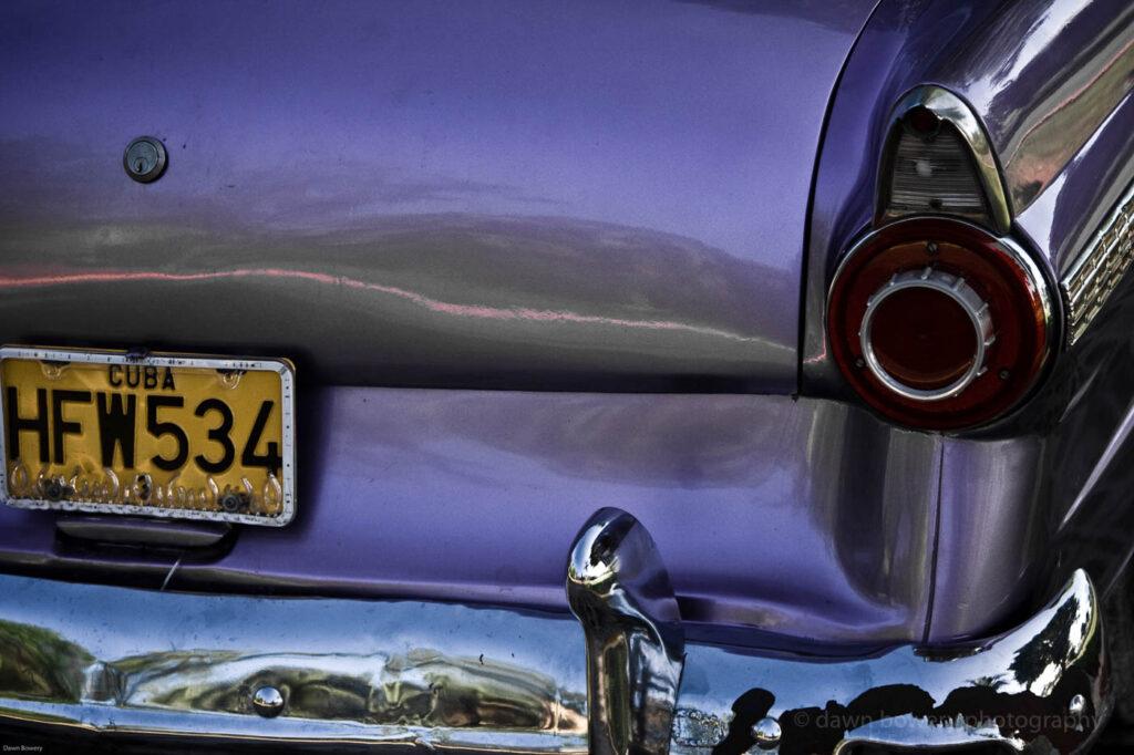 cuba, fine art, purple car, travel photography