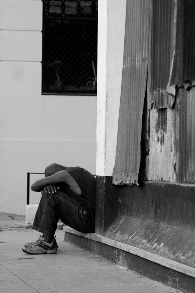 cuba, man in despair, fine art, travel photography