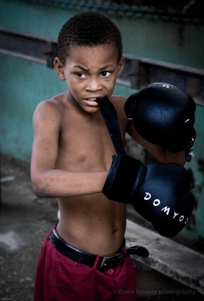 cuba boxer boy, fine art, travel