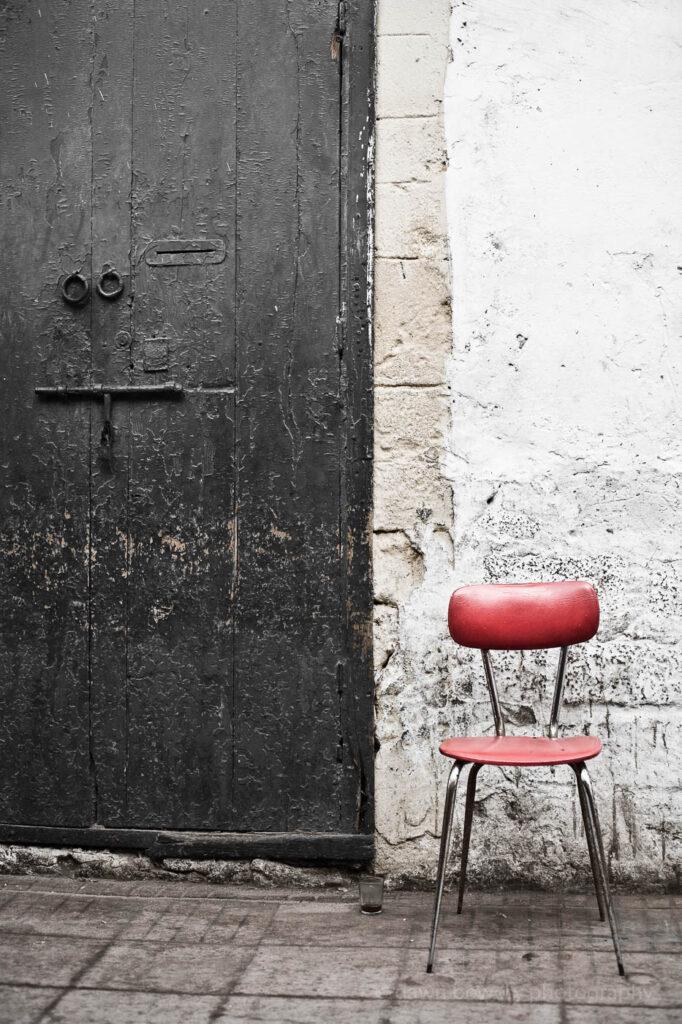 morocco marrakesh red chairfine art