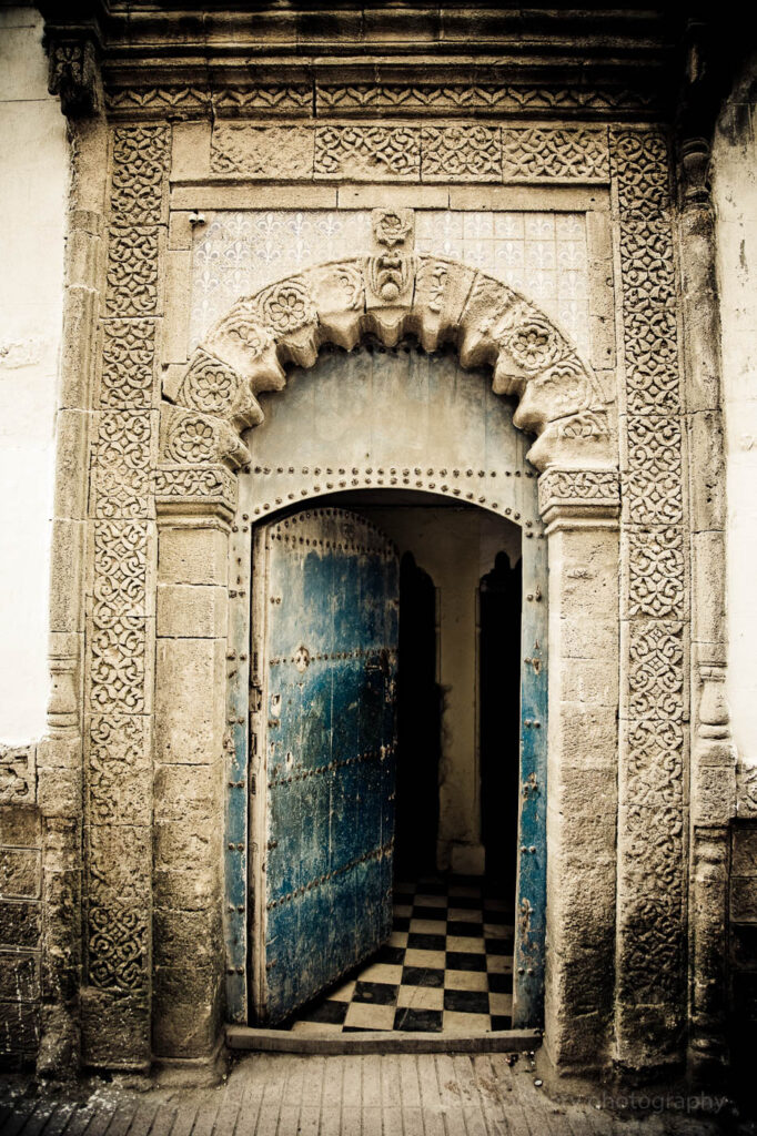 morocco fine art blue door