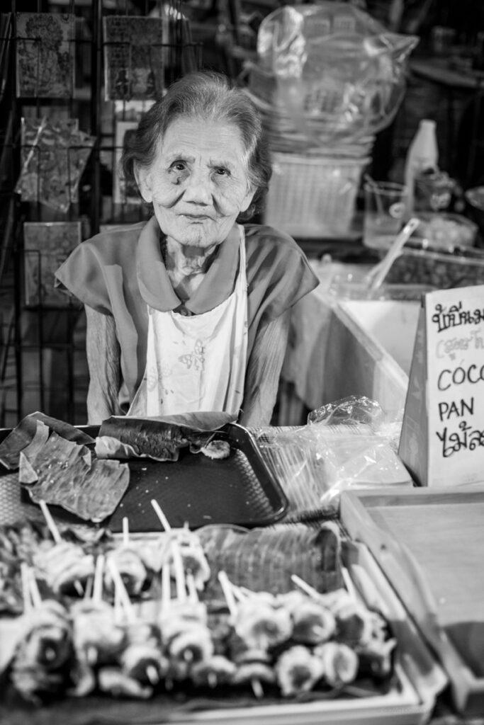 thailand market seller portrait