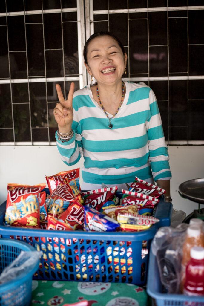 thailand street seller woman