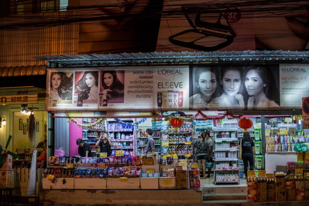 thailand night street scene