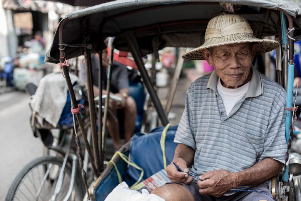thailand rickshaw portrait