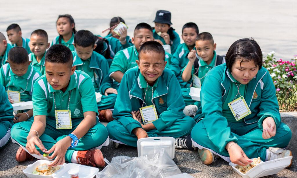 thailand school kids laughter