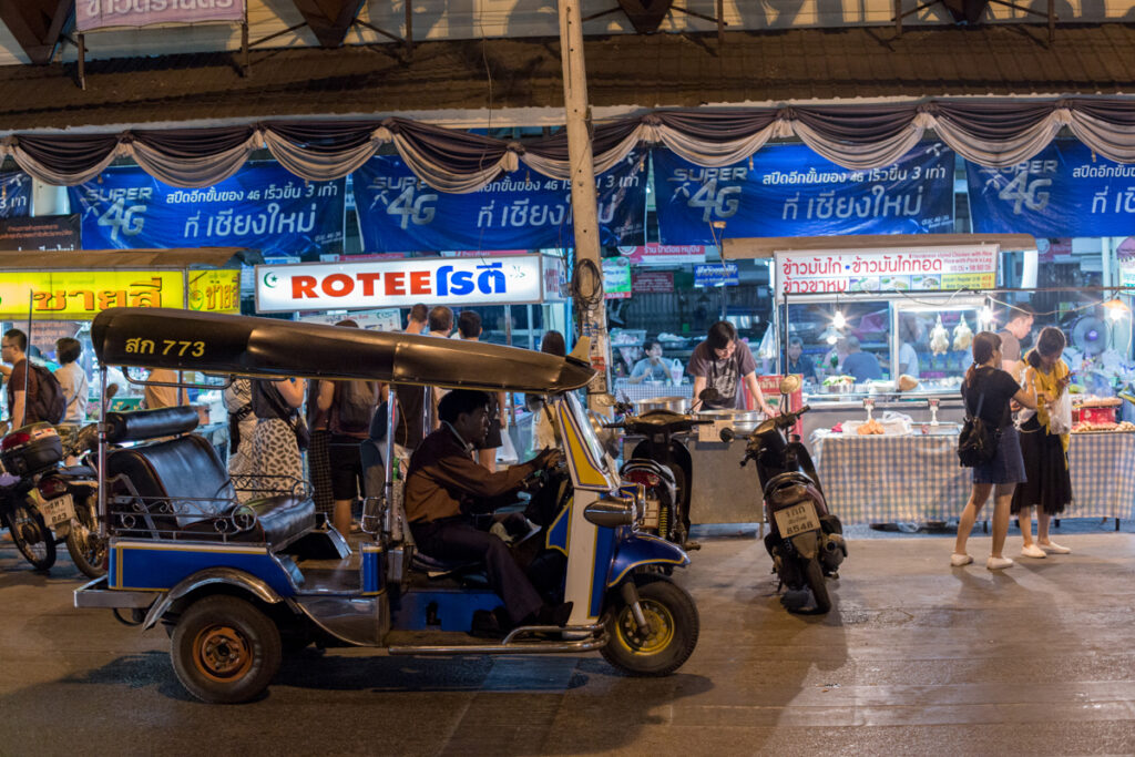 thailand street photography night rickshaw