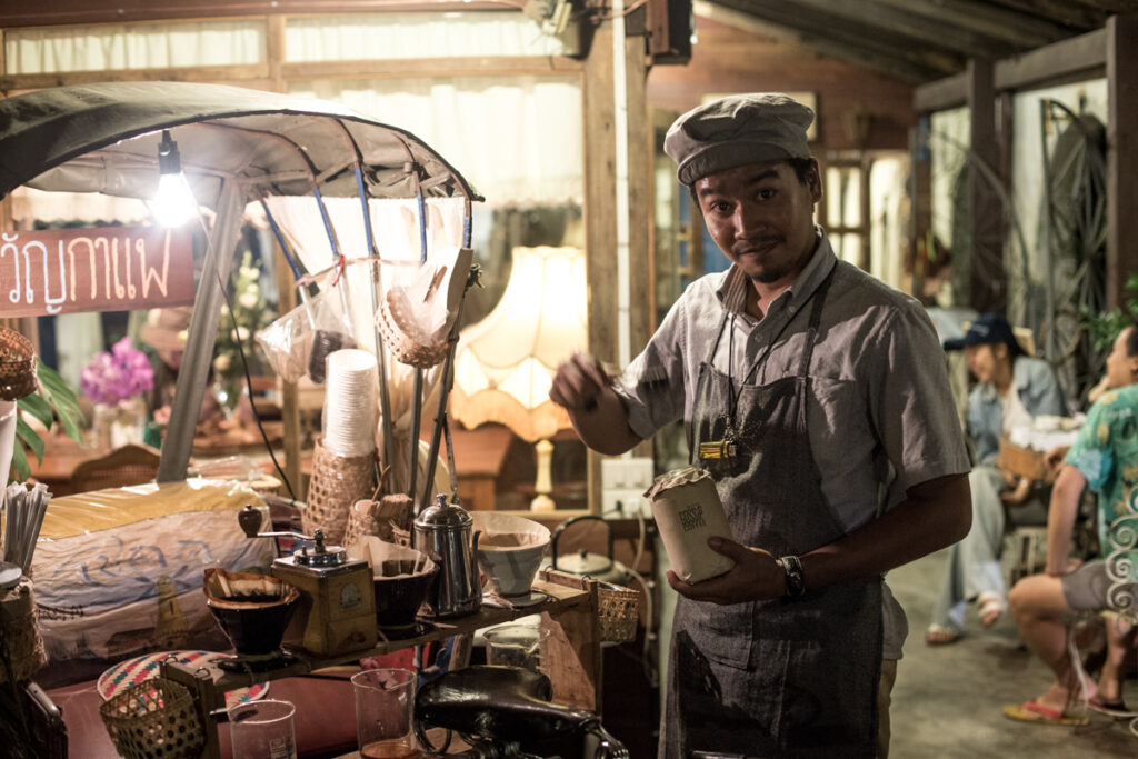 thailand chiang mai coffee seller