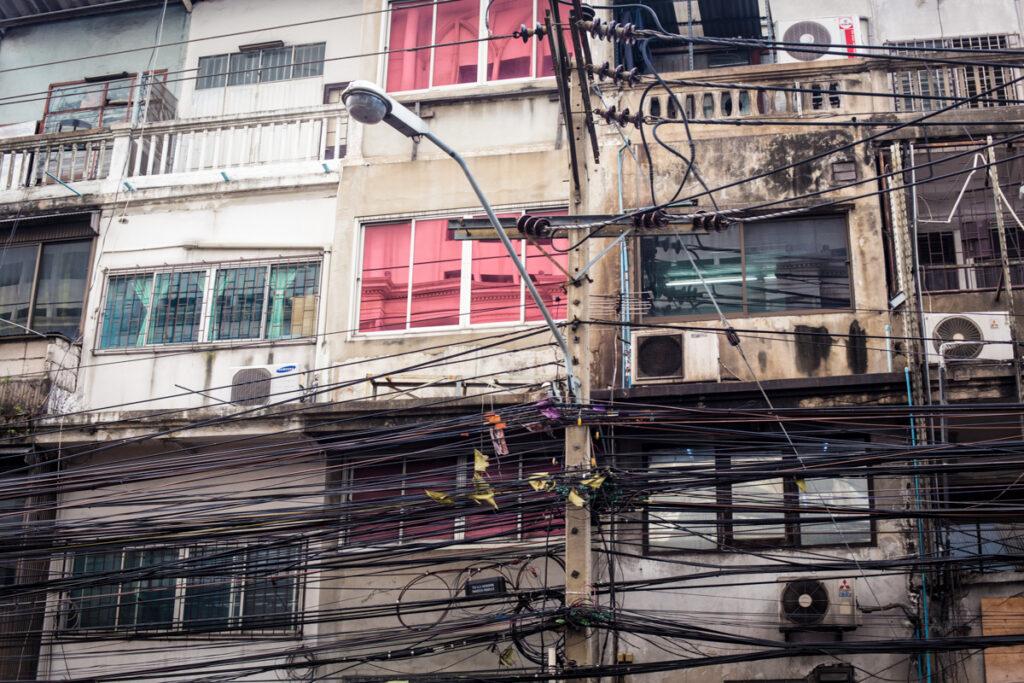 thailand bangkok cables city life
