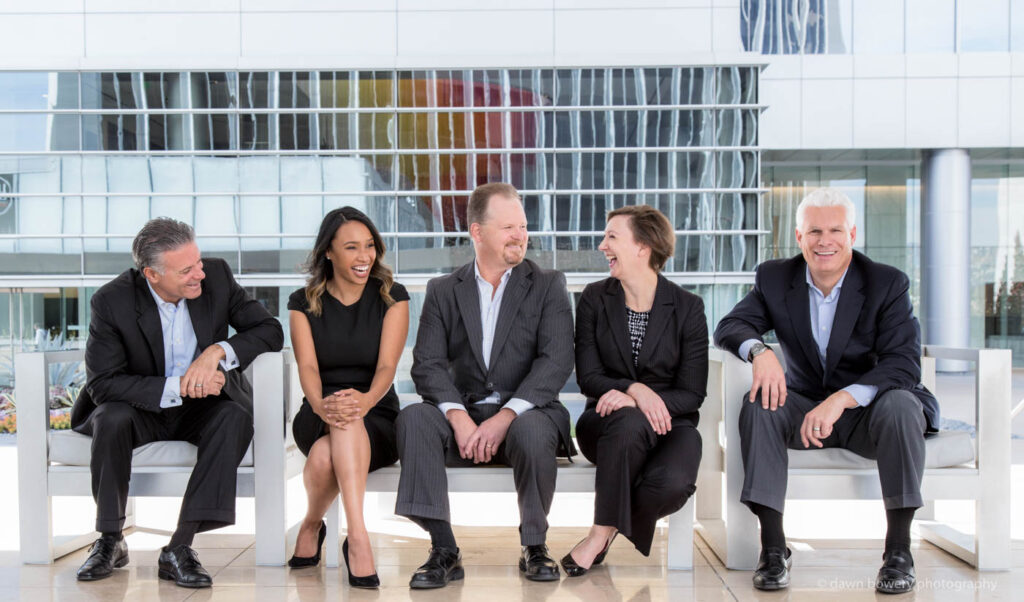 UBS laughing corporate group portrait century city