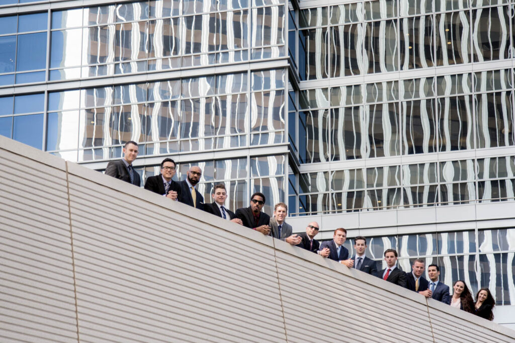 los angeles corporate group portrait stairs