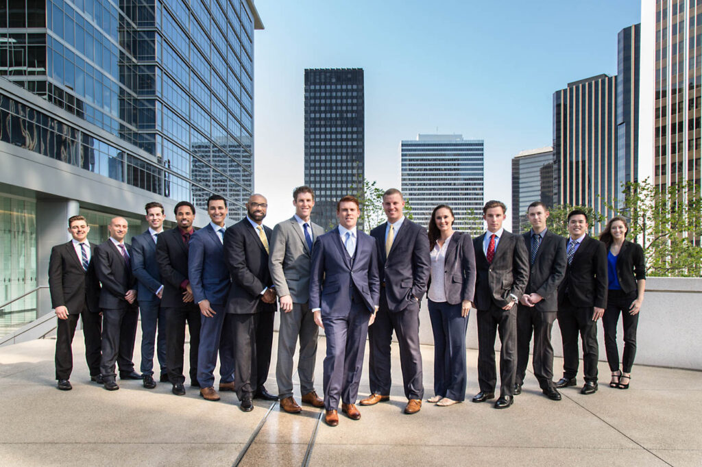 the james group los angeles real estate group portrait rooftop