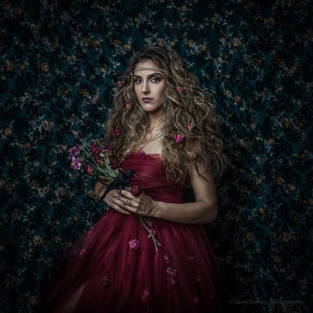 los angeles singer leila hejaz album cover portraiti