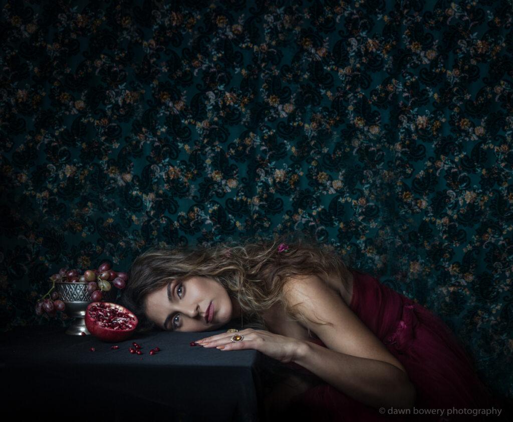 fine art portrait singer leila pomegranite